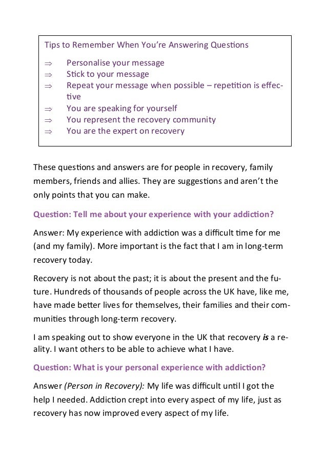 questions and answers booklet