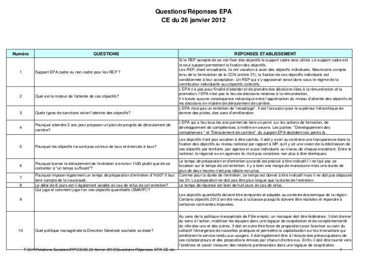 Questions/Réponses EPA                                                                                    CE du 26 janvier...