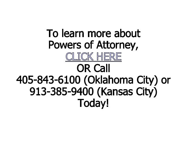 Questions About Oklahoma Powers of Attorney: Essential