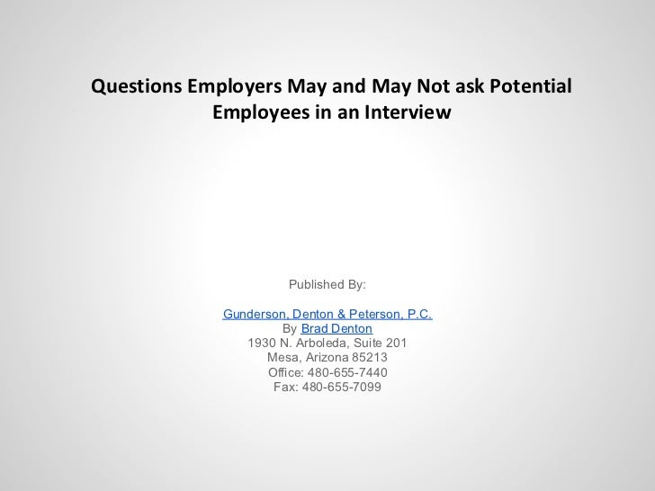 questions employers may and may not ask potential