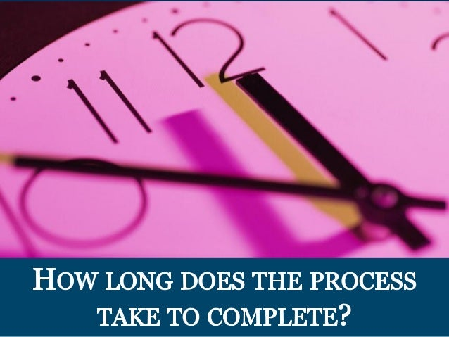 How LONG DOES THE PRoCEss TAKE To CoMPLETE?