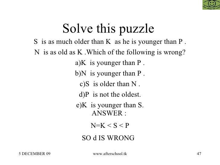 47 Solve This Puzzle