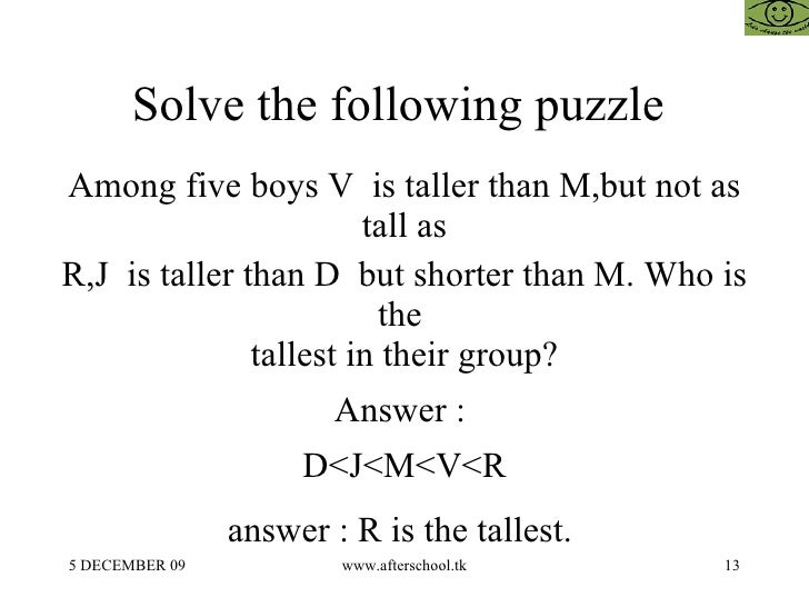 funny puzzles questions and answers pdf