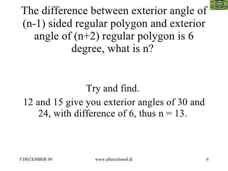 Questions On Polygons In Aptitude Tests