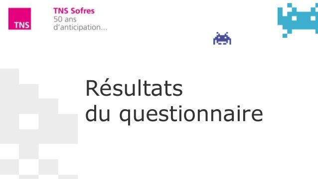 Résultatsdu questionnaire