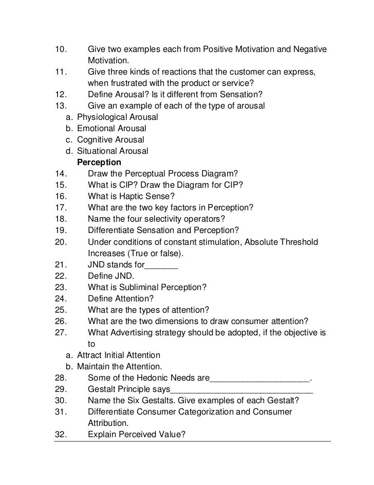 consumer behavior question paper Welcome to this consumer behavior class  please keep your final paper to 20 double spaced typed pages or  the key question you should attempt to answer:.