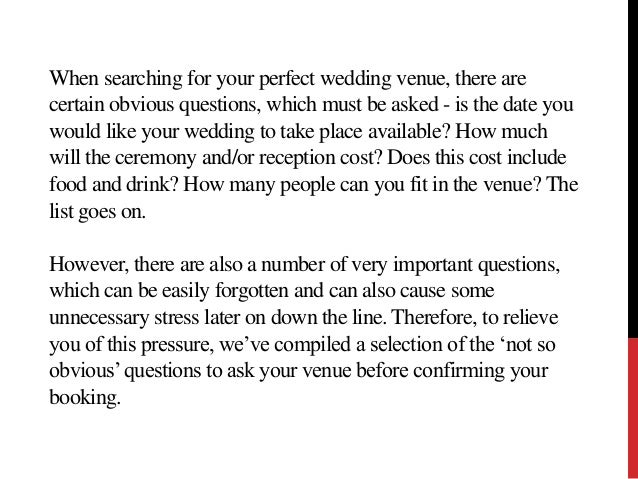 questions to ask your wedding venue 2