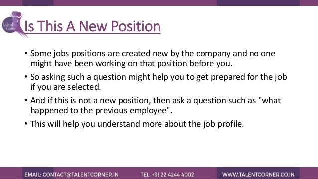 questions you can ask during the time of interview