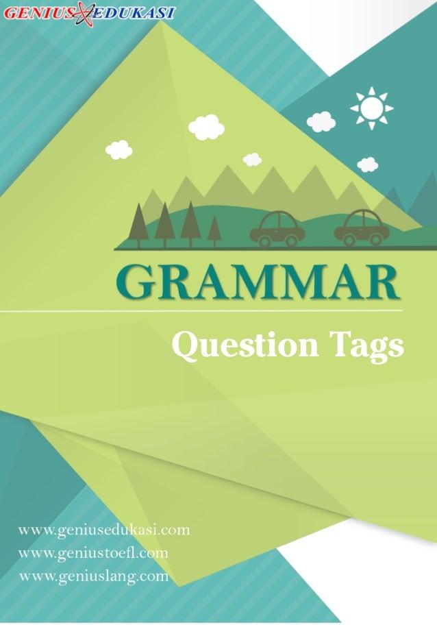 Question Tags Dalam Bahasa Inggris