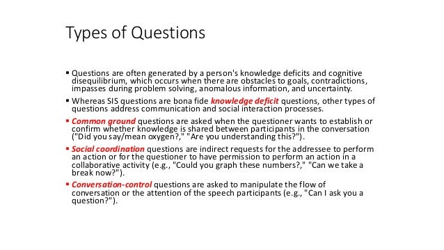 Five Basic Types of Questions