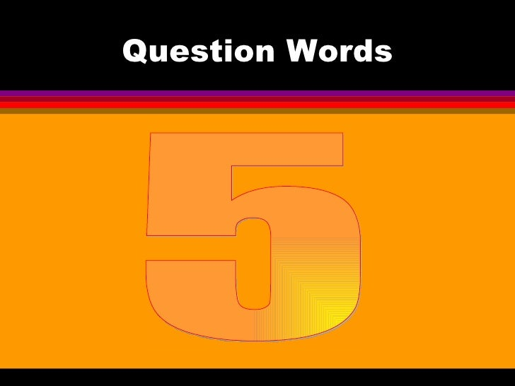 Question Words 5