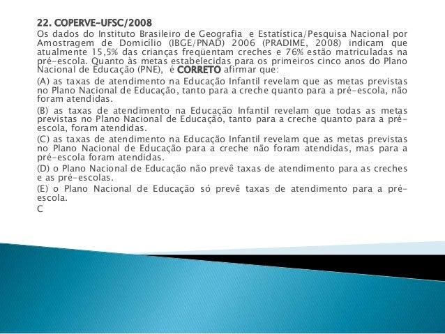 22. COPERVE-UFSC/2008  Os dados do Instituto Brasileiro de Geografia e Estatística/Pesquisa Nacional por  Amostragem de Do...