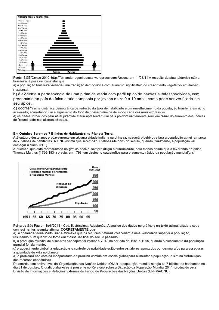 Fonte:IBGE/Censo 2010, http://fernandonogueiracosta.wordpress.com.Acesso em 11/08/11 A respeito da atual pirâmide etáriabr...