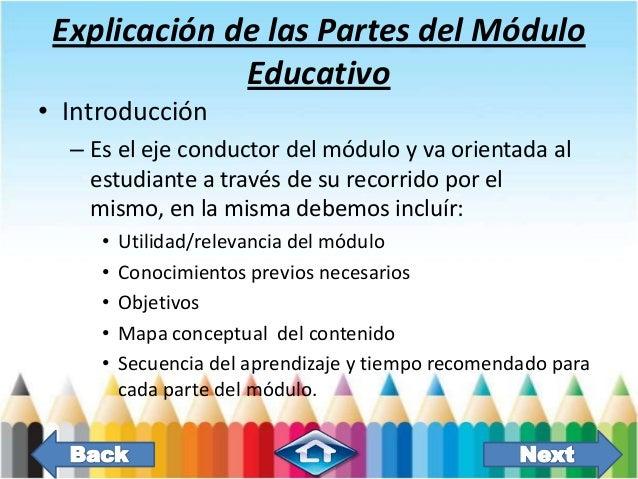 Qué Es Un Módulo Educativo Y Cuál Es La Estructura Basica