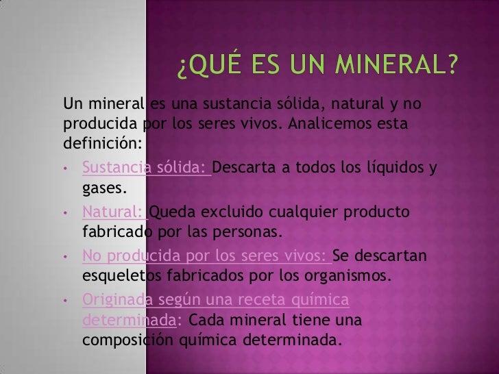K Es Un Bisonte Qué es un mineral