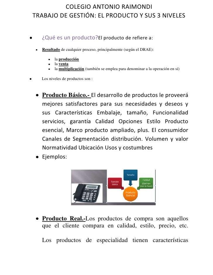 ¿Qué es un producto?          El producto de refiere a:<br />Resultado de cualquier proceso, principalmente (según el DRAE...