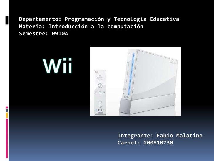 Departamento: Programación y Tecnología Educativa<br />Materia: Introducción a la computación<br />Semestre: 0910A<br />Wi...