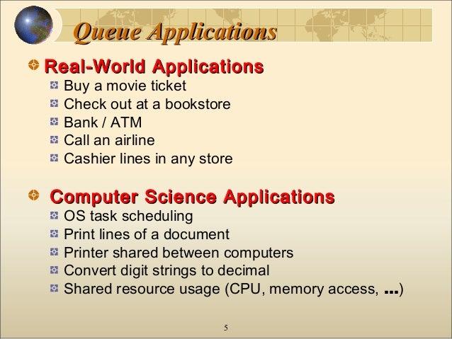 queue applications Queue data structure