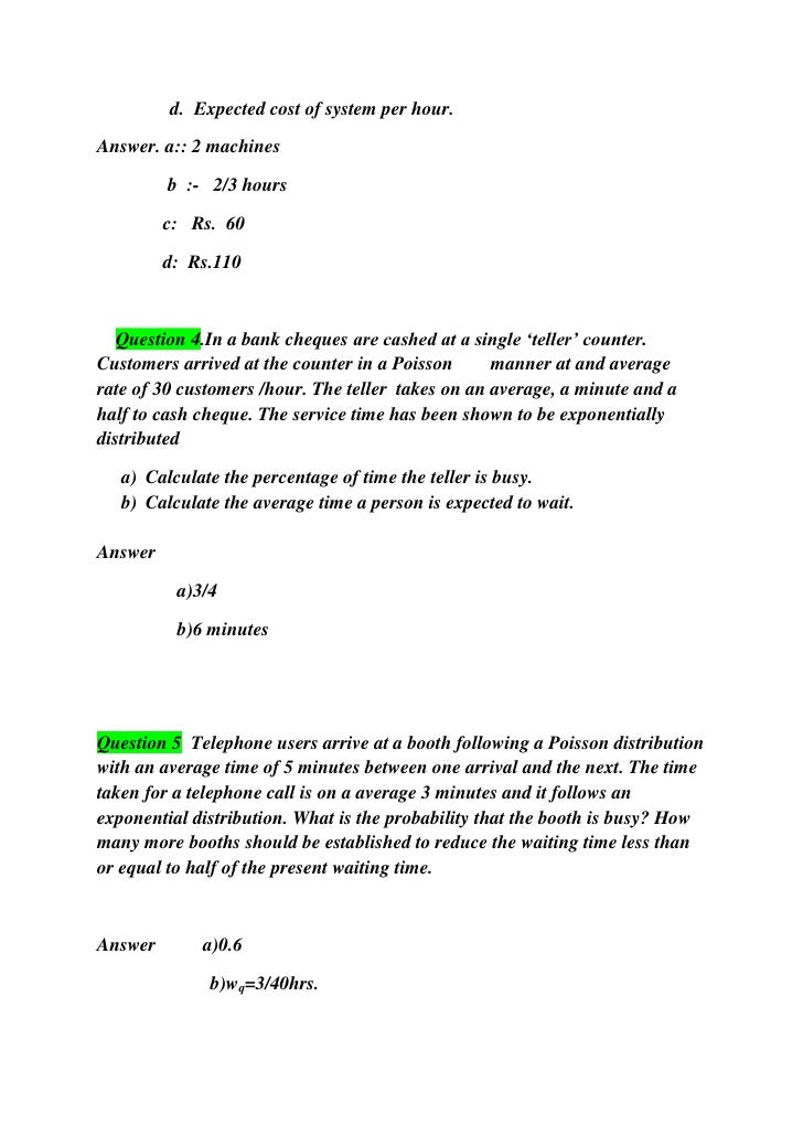 waiting line and queuing theory solutions Solutions for chapter 35 problem 114e problem 114e: (modeling) solve problem see examplewaiting in line queuing theory (also known as waiting-line theory) investigates the problem of providing adequate service economically to customers waiting in line.