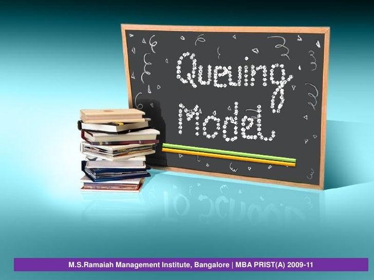 M.S.Ramaiah Management Institute, Bangalore | MBA PRIST(A) 2009-11