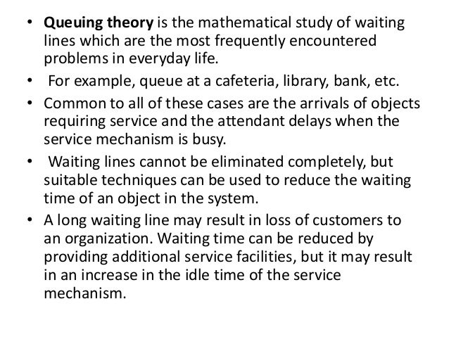 Queuing theory and simulation (MSOR)