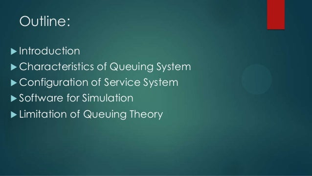 Queuing theory network