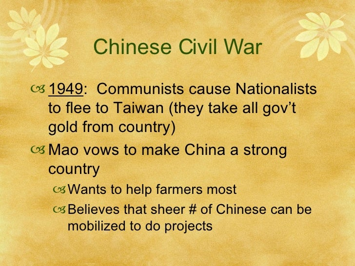 chinese civil war causes