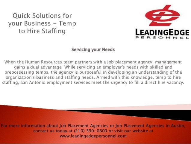 Quick solutions for your business temp to hire staffing
