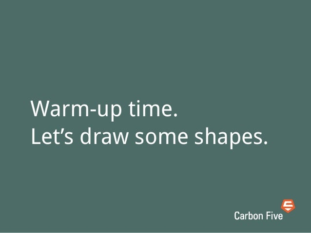 • Draw a page of squares• Draw a page of circles• Draw a page of short parallel linesGet your pencils ready!