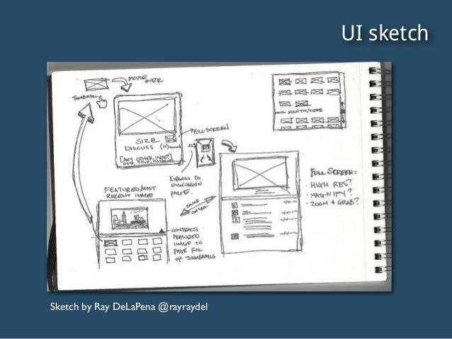 UI sketch Sketch by Ray DeLaPena @rayraydel