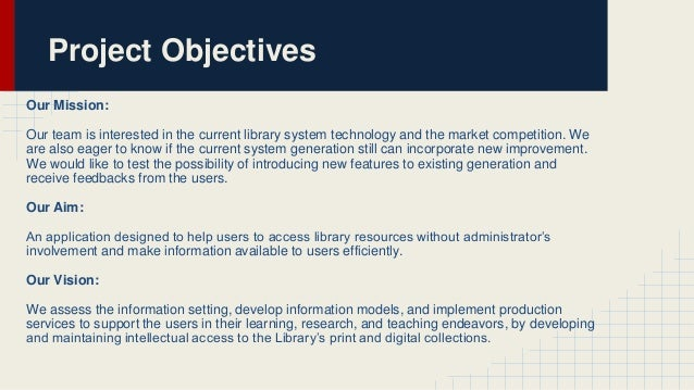 statement of the problem of computerized library system The proposed computerized library system is meant for high school the system allows the user, which is the librarian, to search for materials and update its information and availability adding and removing of acquisitions can also be done.