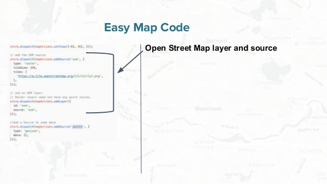 Free and Open Source Software for Geospatial Easy Map Code Open Street Map layer and source