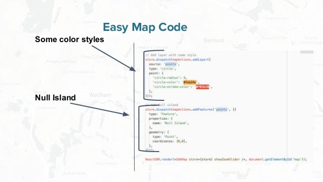 Free and Open Source Software for Geospatial Easy Map Code Some color styles Null Island