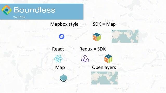 Mapbox style + SDK = Map React + Redux = SDK Map = Openlayers Web SDK
