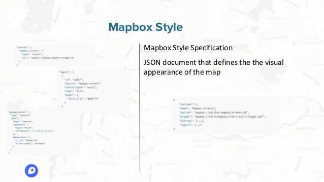 Free and Open Source Software for Geospatial Mapbox Style Mapbox Style Specification JSON document that defines the the vi...