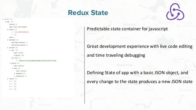 Free and Open Source Software for Geospatial Redux State Predictable state container for javascript Great development expe...