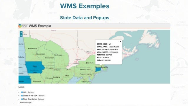 Free and Open Source Software for Geospatial WMS Examples State Data and Popups