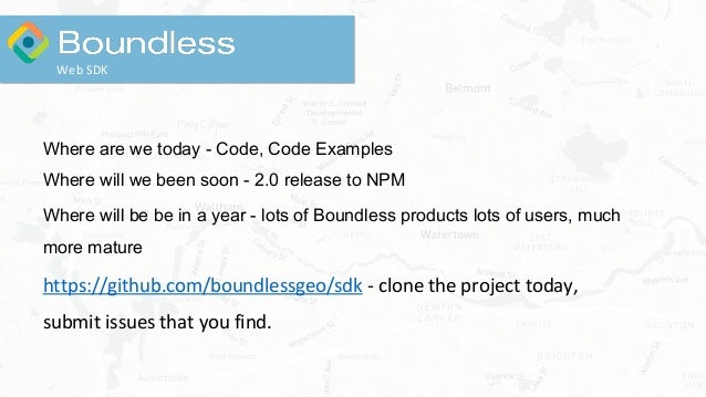 Where are we today - Code, Code Examples Where will we been soon - 2.0 release to NPM Where will be be in a year - lots of...