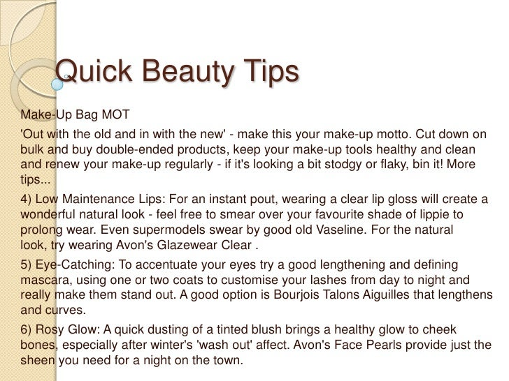 quick beauty tips - Quick beauty tips