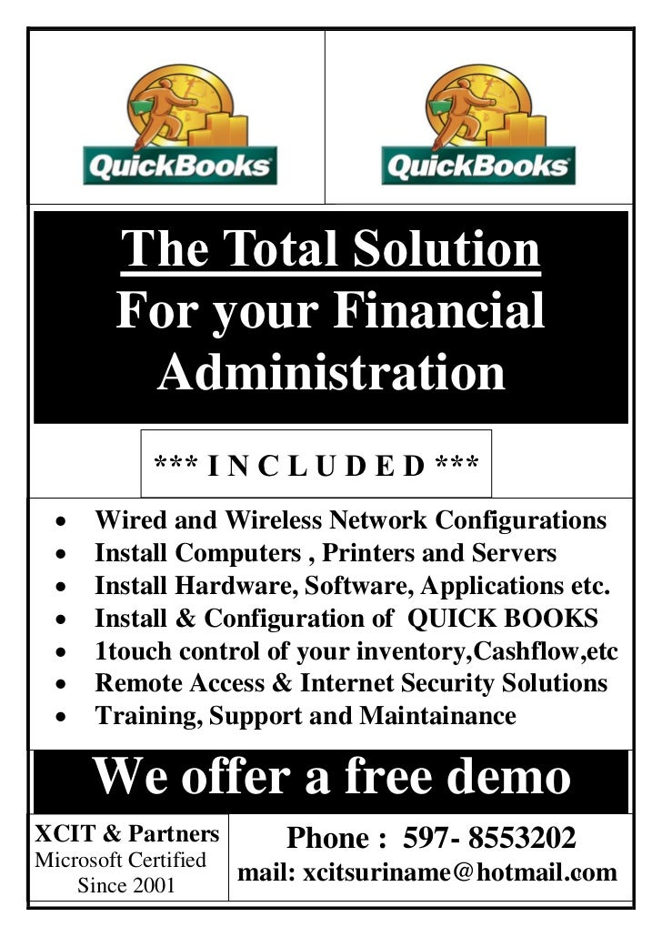 The Total Solution        For your Financial         Administration            *** I N C L U D E D ***     Wired and Wire...