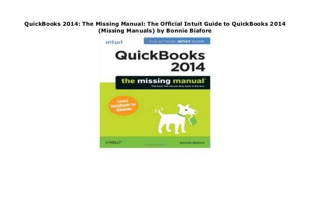 Quickbooks The Official Guide