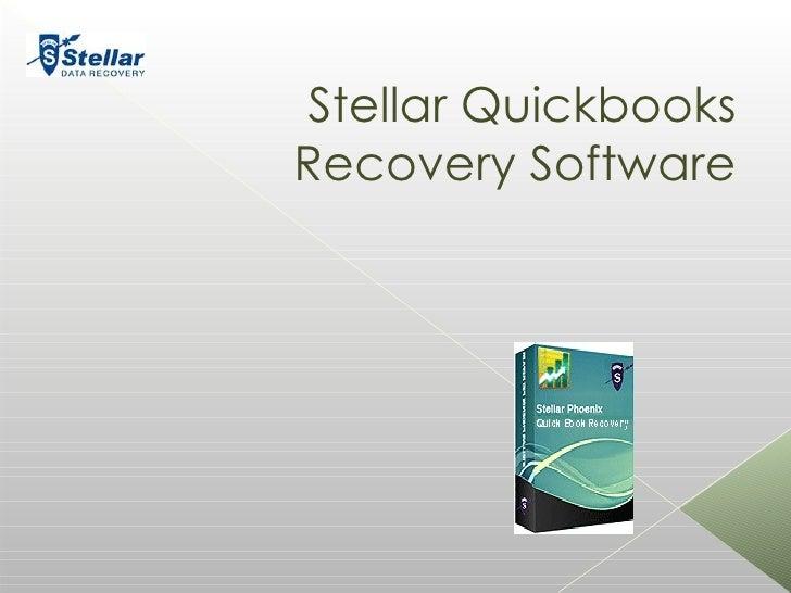 Stellar Quickbooks Recovery Software Your logo her