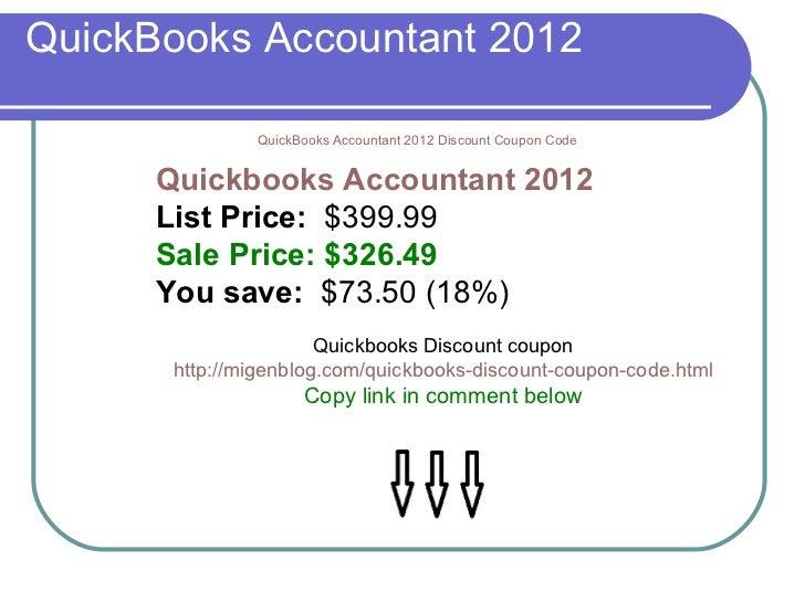 Quickbooks accountant coupon code