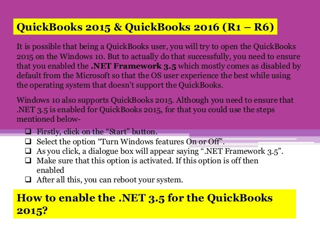 What Variations of QuickBooks are supported on Windows 10?