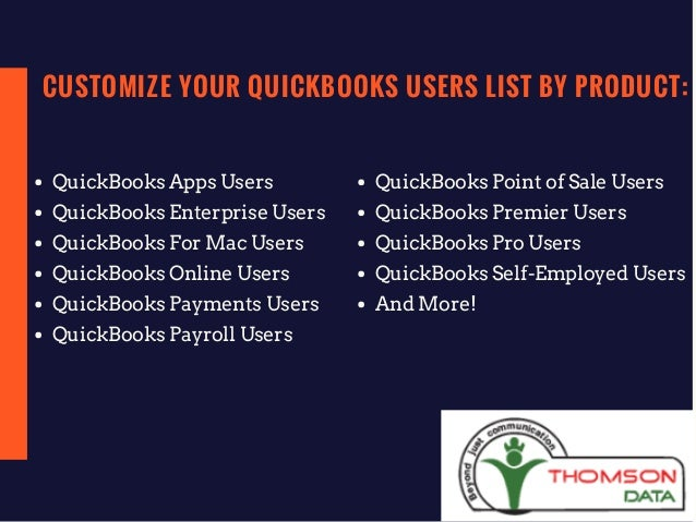 QuickBooks Users Mailing List