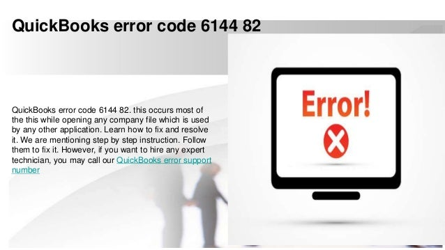 Quick books error code 6144 82