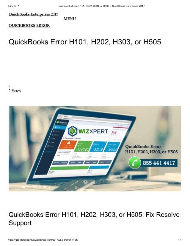 Quick books error h101, h202, h303, or h505 \u2013 quickbooks enterprises \u2026
