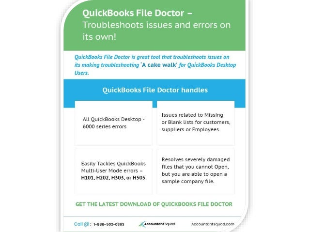 QuickBooks File Doctor – Troubleshoots issues