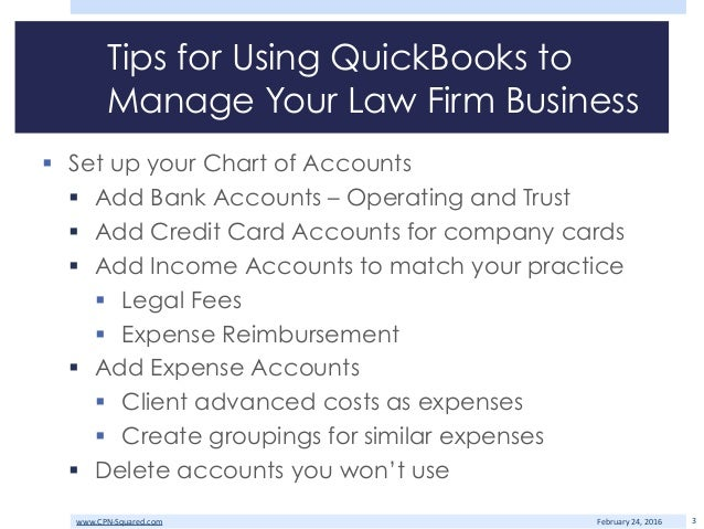 Quickbooks for Lawyers