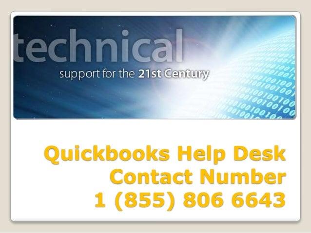 Intuit QuickBooks Help Desk Phone Number 18558066643 Hel